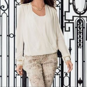 Cache ivory blouse